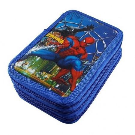 Slika Spiderman trodelna pernica puna školskog pribora