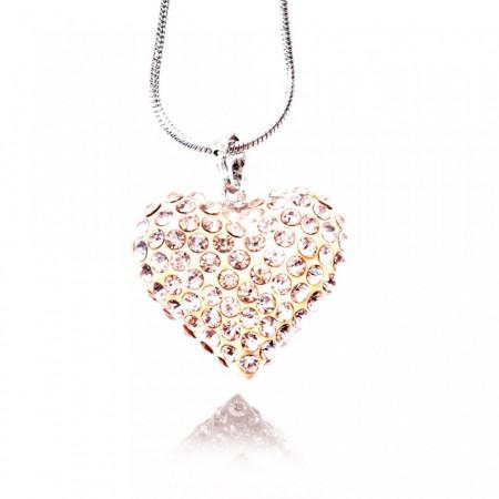 Slika Crystal Heart ogrlica srce sa cirkonima