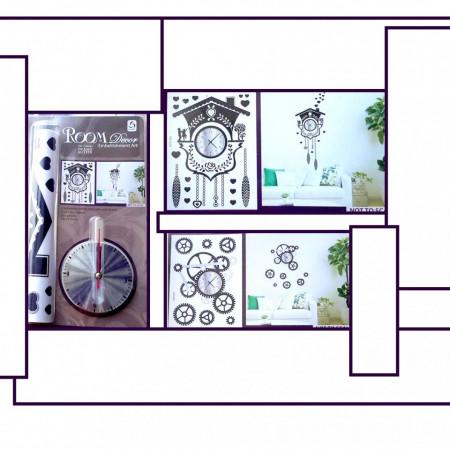 Slika Dekorativni stiker zidni satovi sa mehanizmom