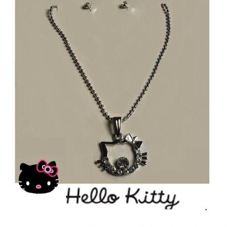 Slika Hello Kitty posrebreni komplet nakita
