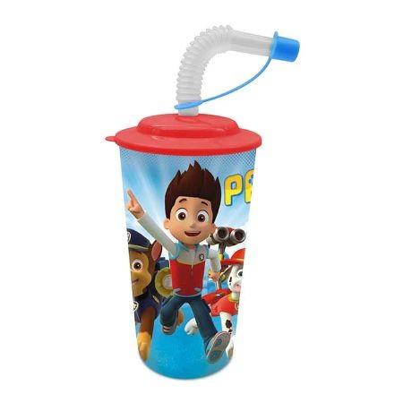 Patrolne Šape 3D čaša sa slamčicom i poklopcem