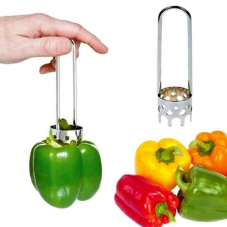 Sprava za vađenje peteljki i čišćenje paprika