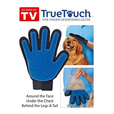 Slika True Touch rukavica za četkanje i masažu kućnih ljubimaca