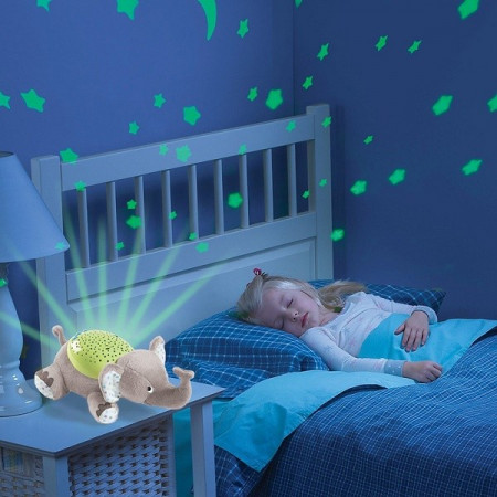 Slika Čarobni Slončić, Leptir ili Kornjača - lampa zvezdano nebo