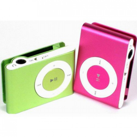 Slika Mp3 Player u boji uz slušalice i usb kabl