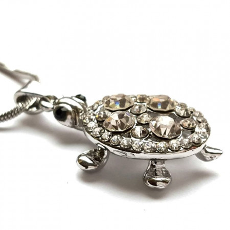 Slika Baby Turtle posrebrena ogrlica sa kornjačicom