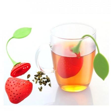 Slika Silikonski infuzer za čaj, jagoda i kišobran