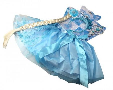 Slika Frozen Elsa ili Ana kostim set - lepršava suknja,kruna,pletenica,čarobni štapić