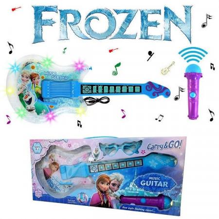 Slika Frozen Elsa&Anna muzička gitara sa mikrofonom