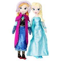 Slika Frozen Elsa i Ana plišane lutke