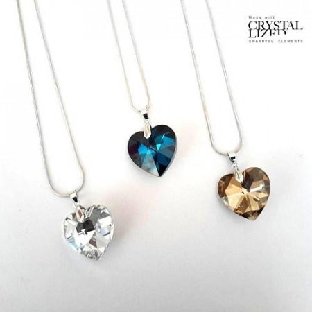 Slika Ogrlica Heart crystal