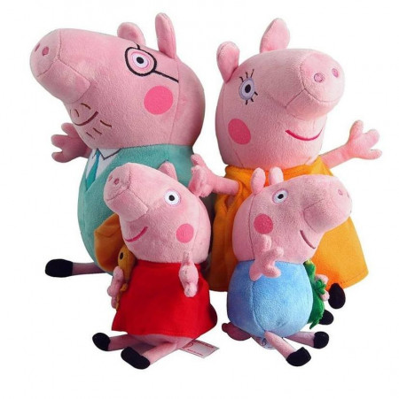 Slika Pepa Prase, Džordž, Tata i Mama - muzičke plišane dečije igračke