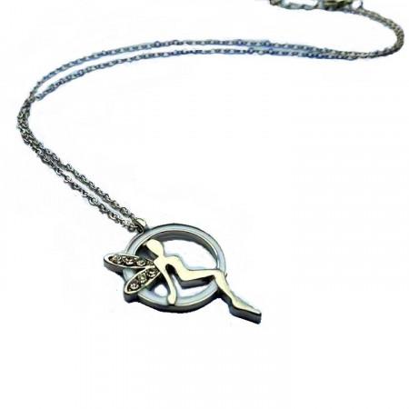 Slika Posrebrena ogrlica zvončica na mesečini