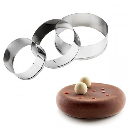Slika Tart prstenovi od inoxa 3 kom