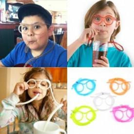 Blesave naočare sa slamčicom