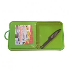 Daska za sečenje sa posudom i nožem