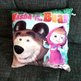 Maša i Meda dečiji plišani jastuk