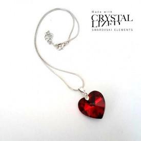 Ogrlica Heart crystal