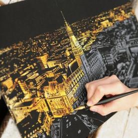 Scratch Night View tabla kojom otkrivate noćni izgled najlepših svetskih metropola