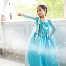 Frozen Elsa set za devojčice - kruna, pletenica i čarobni štapić