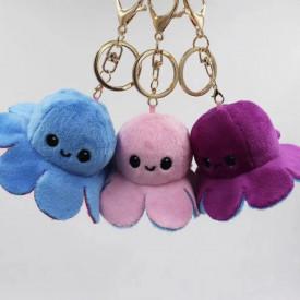 Plišane privezak hobotnice sa dva lica