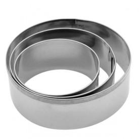 Tart prstenovi od inoxa 3 kom