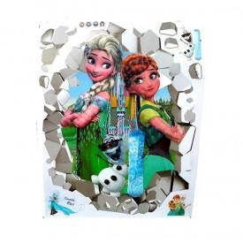 Frozen Elsa&Anna veliki 5D dekorativni stiker