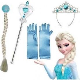 Frozen set Elsa - rukavice,kruna,kika,čarobni štapić