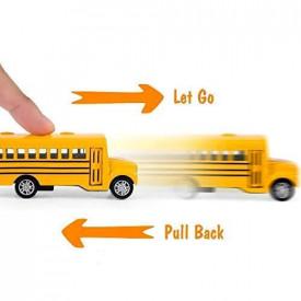Set od 4 Autića: Autobus, Kombi, Skolski Bus i Sanitet