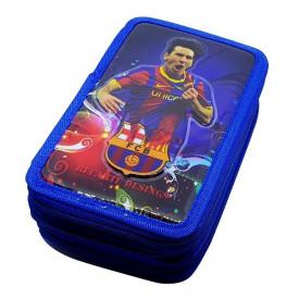 Messi - FC Barcelona 3D trodelna pernica puna školskog pribora