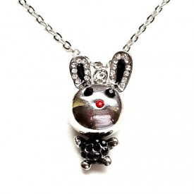 Posrebrena ogrlica sa Zekom - Funny Bunny