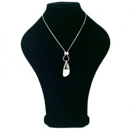 Crystal Drop posrebrena ogrlica sa kristalom