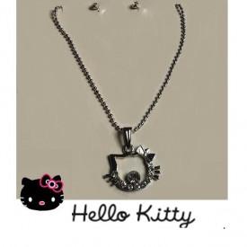 Hello Kitty posrebreni komplet nakita