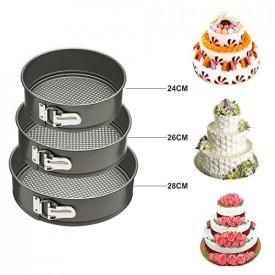 Set od 3 kalupa za pravljenje torti
