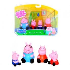Pepa Prase porodica - komplet od 4 gumene igračke za kupanje