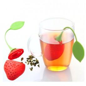 Silikonski infuzer za čaj, jagoda i kišobran