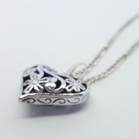 Vintage Heart posrebrena ogrlica
