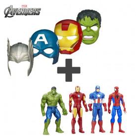 Figura i maska najpoznatijih super heroja. Spajdermen, Hulk, Kapetan Amerika, Supermen