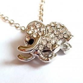 Posrebrena ogrlica slonče