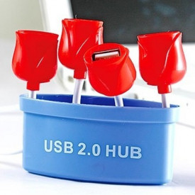 4-portni 2.0 High Speed USB Hub kao saksija sa ružama