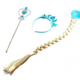 Frozen Elsa ili Ana kostim set - lepršava suknja,kruna,pletenica,čarobni štapić