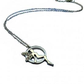 Posrebrena ogrlica zvončica na mesečini
