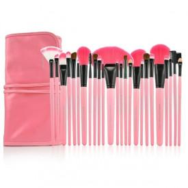 Profesionalni set od 24 četkica za šminkanje - Pink & Black Edition