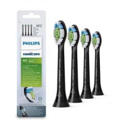 Rezerve periuta de dinti electrica Philips Sonicare W2 Optimal White HX6064/11 , 4 buc, negre