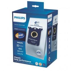 Set 16 saci microfibra S bag Classic Long Performance pentru aspirator Philips PowerGo FC8244, FC8245