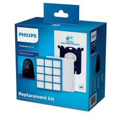 Kit starter aspirator Philips Performer Active FC8059/01 6 saci de praf S-bag® CLP, 1 filtru de evacuare EPA12, 1 filtru de intrare cu strat triplu