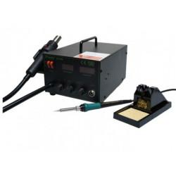 Statie de lipit cu aer cald SMD 2-IN-1 HOT AIR 700W 220V 480°C PRO'SKIT