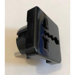 Adaptor stecher universal negru
