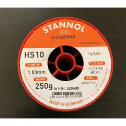 FLUDOR 1,0MM 250G STANNOL - NO CLEAN KRYSTALL 505