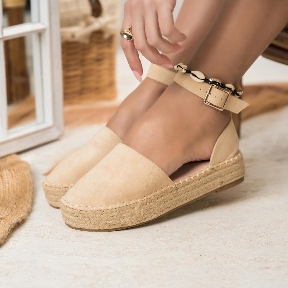 Női spárgatalpú cipők Fordított műbőr Bézs Charlotte X2764